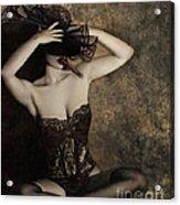 Sensuality In Sepia - Self Portrait Acrylic Print