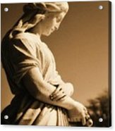 Sepia Angel Dream Acrylic Print