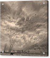 Sepia Angry Skies Acrylic Print
