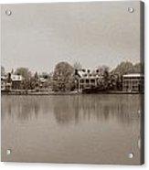 Sepia Chestertown Waterfront Acrylic Print