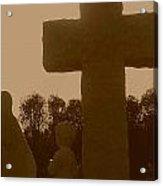 Sepia Cross Acrylic Print