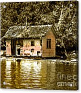 Sepia Floating House Acrylic Print