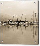 Sepia Harbor Acrylic Print