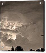 Sepia Light Show Acrylic Print