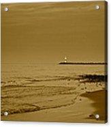 Sepia Lighthouse Acrylic Print