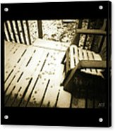 Sepia - Nature Paws In The Snow Acrylic Print