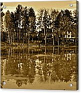 Sepia Reflection Acrylic Print