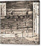 Sepia Rustic Old Colorado Barn Door And Window Acrylic Print by James BO  Insogna
