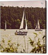 Sepia Sailing Acrylic Print