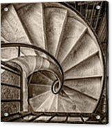 Sepia Spiral Staircase Acrylic Print