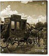 Sepia Stagecoach Acrylic Print