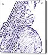 Sepia Tone Drawing Of A Tenor Saxophone 3356.03 Acrylic Print