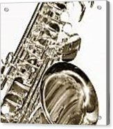 Sepia Tone Photograph Of A Tenor Saxophone 3356.01 Acrylic Print