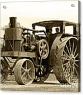 Sepia Tractor Acrylic Print