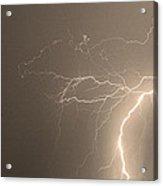 Sepia Tropical Thunderstorm Night  Acrylic Print