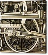 Sepia Wheels Acrylic Print
