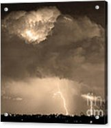 Sepiathunderstorm Boulder County Colorado   Acrylic Print