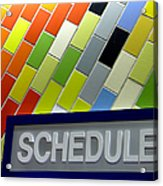 Septa Schedules Acrylic Print
