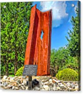 September 11th Memorial Mantua N J Acrylic Print by Nick Zelinsky