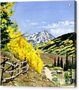 September Gold Acrylic Print