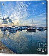 September Morning At Lyme Regis Acrylic Print