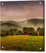 Sequatchie Vally Red Barn Acrylic Print by Paul Herrmann