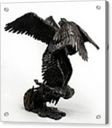 Seraph Angel A Religious Bronze Sculpture By Adam Long Acrylic Print by Adam Long