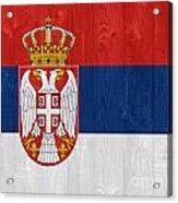 Serbia Flag Acrylic Print
