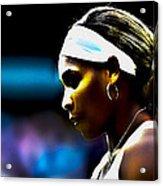 Serena Williams Focus Acrylic Print