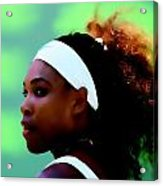Serena Williams Match Point Acrylic Print
