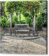 Serene Bench Acrylic Print