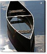 Serene Canoe With Sky Acrylic Print by Renee Forth-Fukumoto