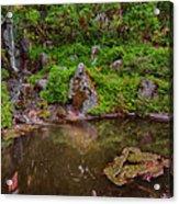 Serene Garden Pond Acrylic Print