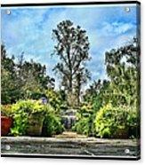 Serene Is The Garden. Acrylic Print