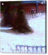 Serene New England Cabin In Winter #10 Acrylic Print