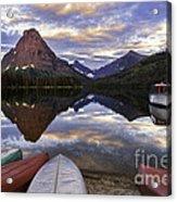 Serenity On Two Medicine Lake Acrylic Print