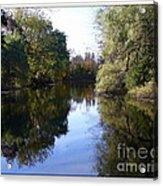 Serenity Pond Reflection At Limehouse Ontario Acrylic Print