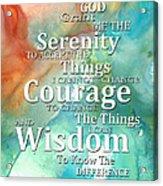 Serenity Prayer 1 - By Sharon Cummings Acrylic Print