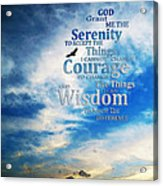 Serenity Prayer 3 - By Sharon Cummings Acrylic Print