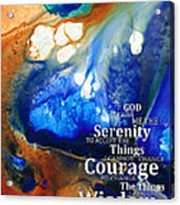 Serenity Prayer 4 - By Sharon Cummings Acrylic Print