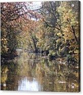 Serenity River Acrylic Print by Nancy Edwards