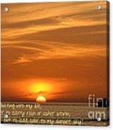 Serenity Sunset Acrylic Print
