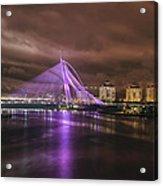 Seri Wawasan Bridge At Night Acrylic Print