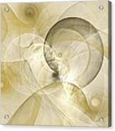 Series Abstract Art In Earth Tones 3 Acrylic Print