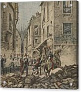 Serious Troubles In Italy Riots Acrylic Print