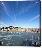 Sestri Levante With Clouds Acrylic Print
