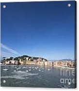 Sestri Levante With The Sea And Blue Sky Acrylic Print