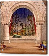 Set Design For Hamlet By William Acrylic Print