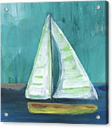 Set Free- Sailboat Painting Acrylic Print