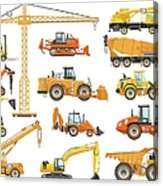 Set Of Detailed Heavy Construction And Acrylic Print